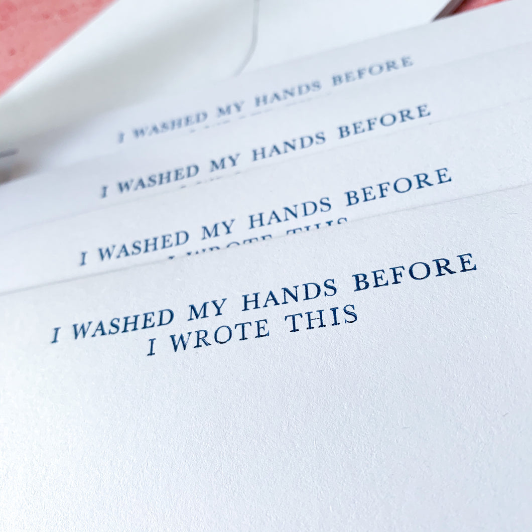 Dark Blue 'I Washed My Hands Before I Wrote This' Writing Set