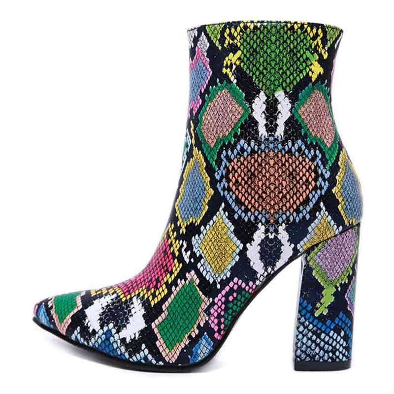 Bottines Serpent Multicolore | Univers Serpent