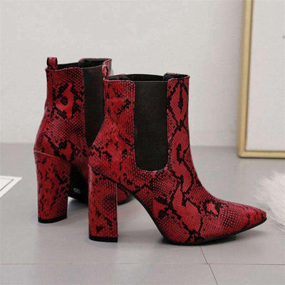 Bottines Python Bordeaux