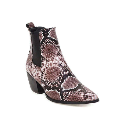 Bottines Chelsea Serpent