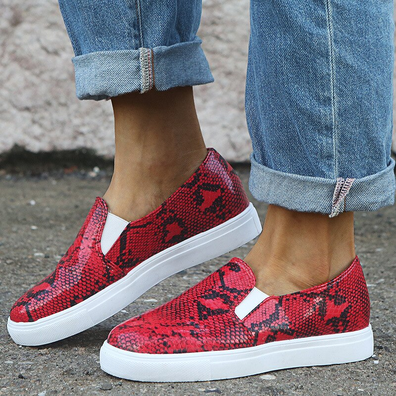 Sneakers Python Rouge | Univers Serpent