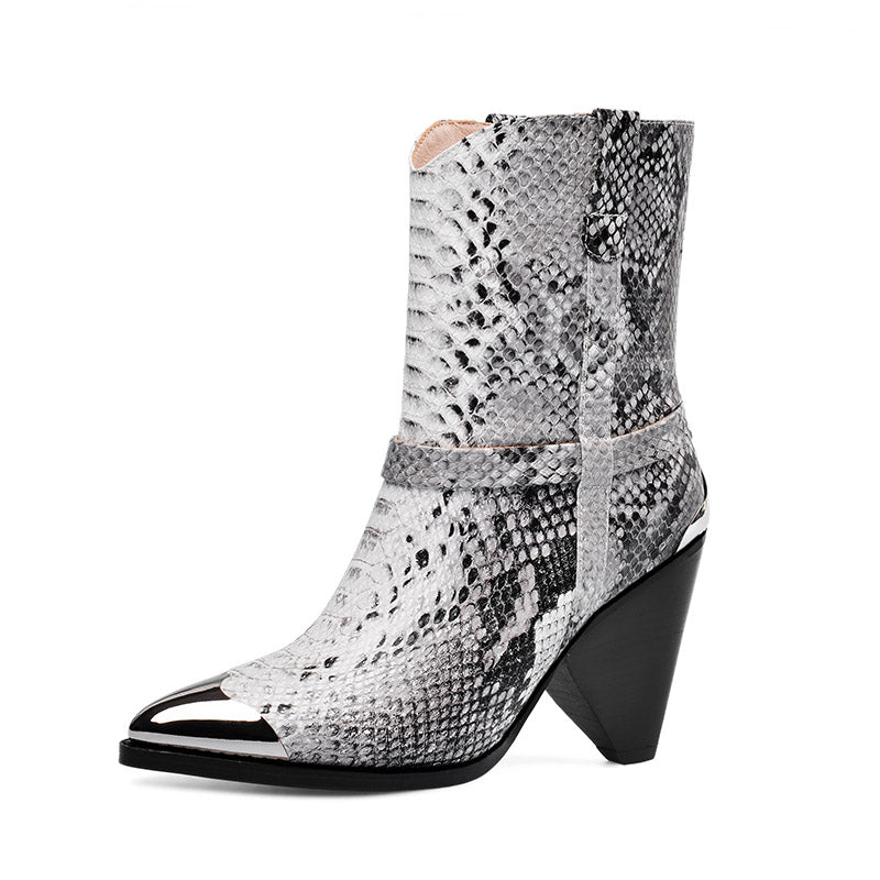 Bottines Python Cuir | Univers Serpent
