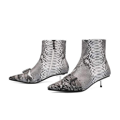 Bottines Femme Cuir Serpent | Univers Serpent