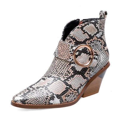 Bottines Imprimé Python | Univers Serpent