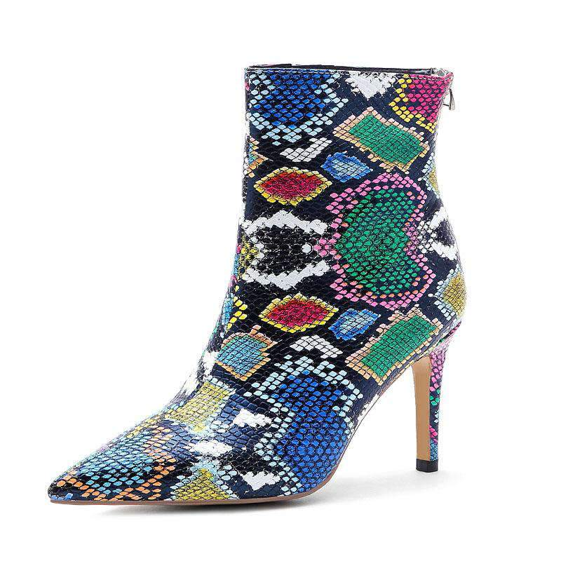 Bottines Imprimé Python Multicolore | Univers Serpent