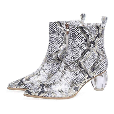 Bottines Python à Talons | Univers Serpent