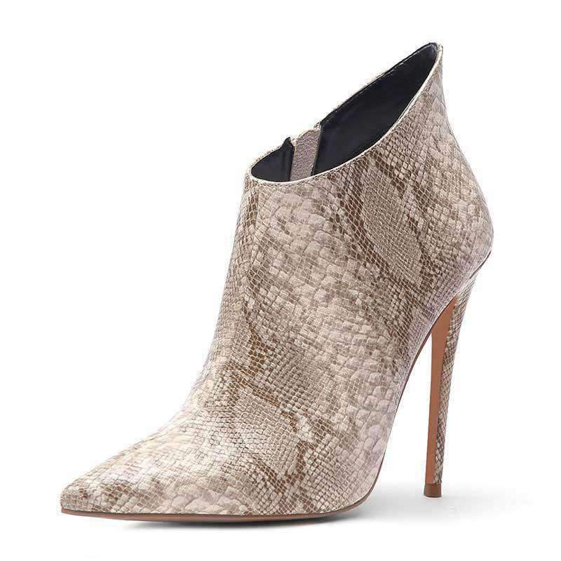 Bottines Python Beige | Univers Serpent