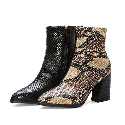 Bottines Python Camel Bi-ton | Univers Serpent