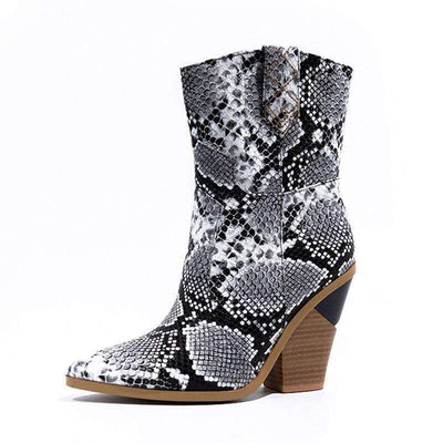 Bottines Santiag Python Gris | Univers Serpent