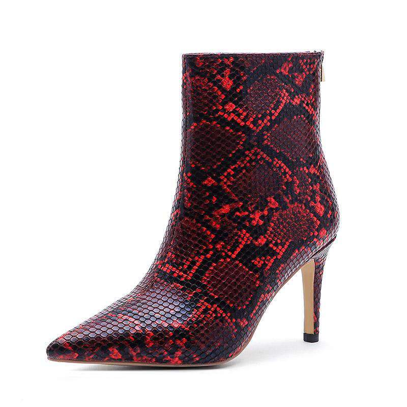 Bottines Serpent Rouge