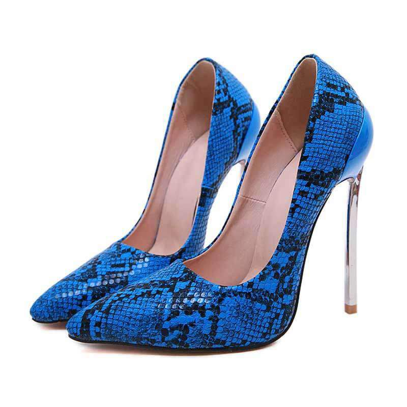 Escarpins Serpent Bleu | Univers Serpent
