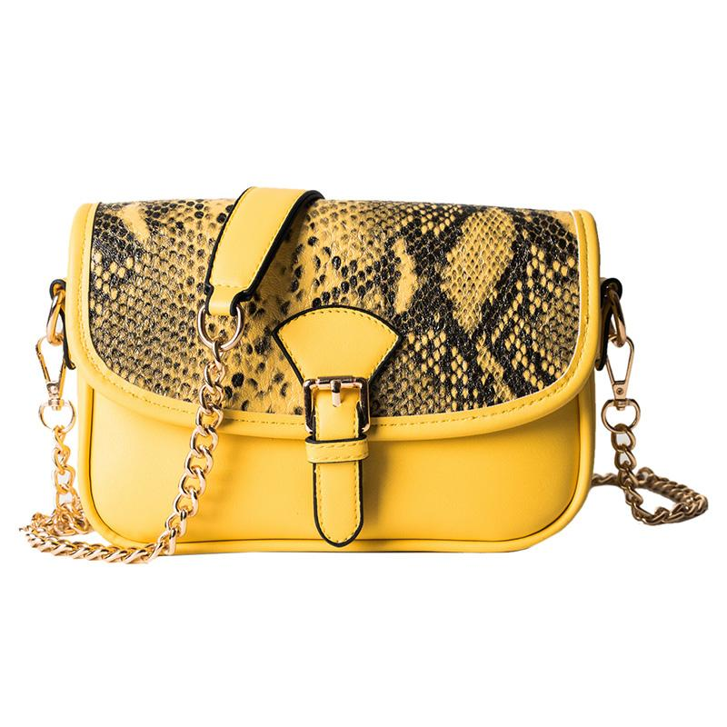 Sac Bandoulière Serpent Jaune | Univers Serpent