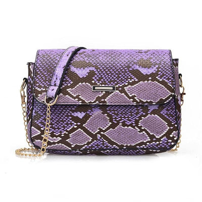 Sac Imitation Serpent Violet | Univers Serpent