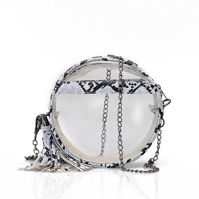 Sac Rond Transparent Serpent | Univers Serpent
