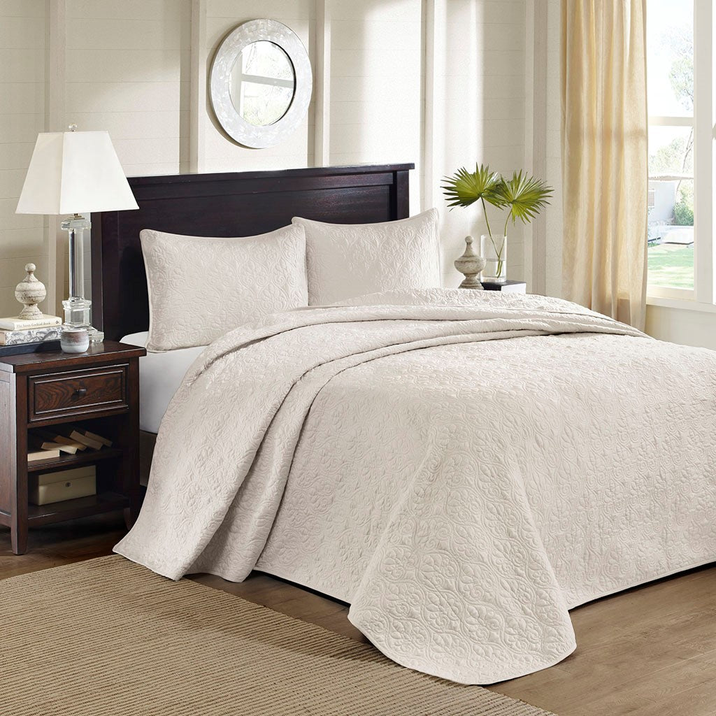 Madison Park Quebec Transitional| 100% Polyester Microfiber Bedspread Set MP13-2633
