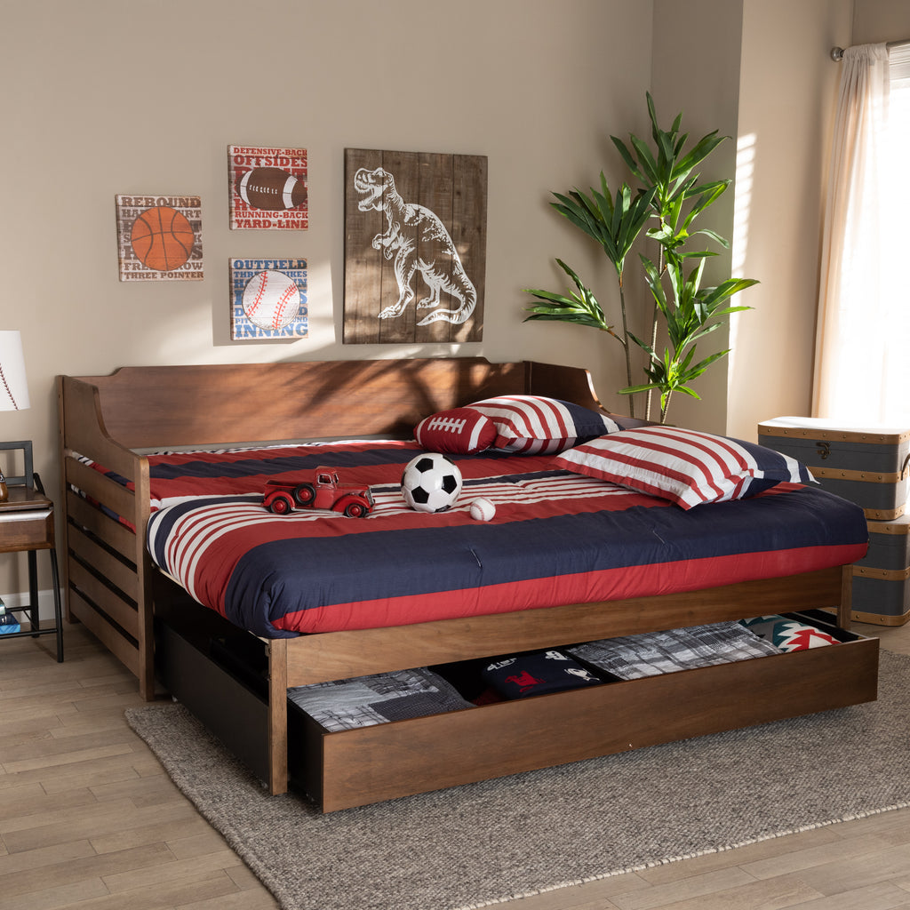 Jameson Modern Transitional Expandable Twin Size To King Size Daybed W English Elm