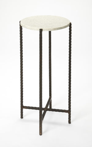 Nigella Butler Loft Marble And Metal Transitional Multi-Color Accent Table