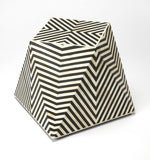 Zanzibar Bone Inlay Black Bone Inlay Modern Black Octagonal Accent Table 5266318