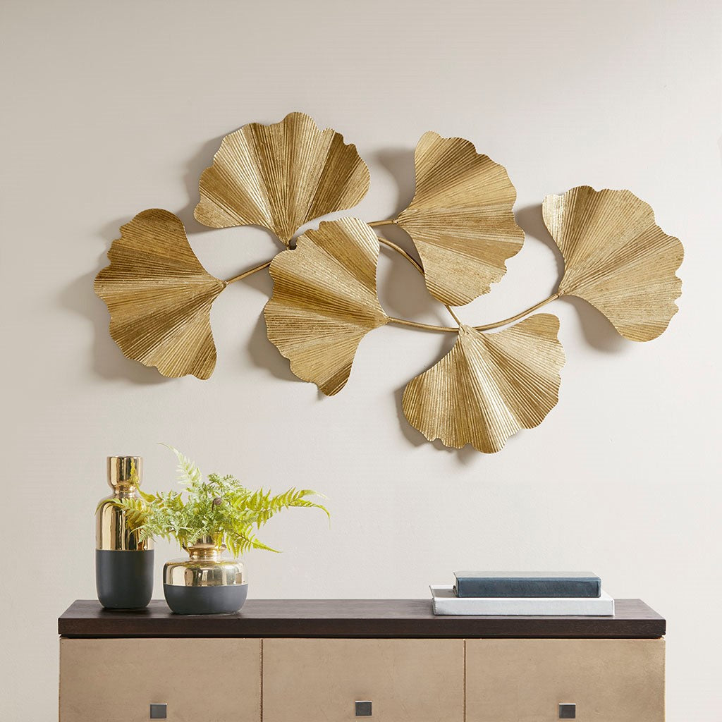 Martha Stewart Faye Transitional Ginkgowall Decor MT167-0023