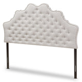 Baxton Studio Hilda Modern and Contemporary Greyish Beige Fabric King Size Headboard