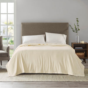 "True North by Sleep Philosophy Micro Fleece Casual 100% Polyester Knitted Blanket W/ 2"" Matte Satin Binding BL51-0517"