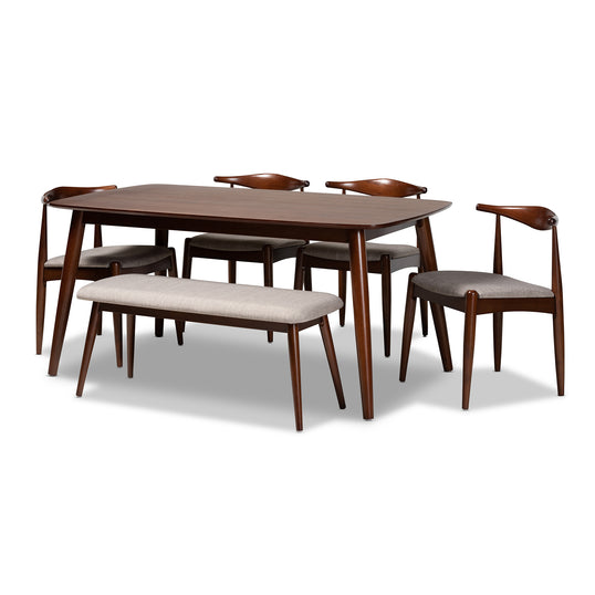 Aeron One (1) Table; Four (4) Dining Chairs; One (1) Dining Bench