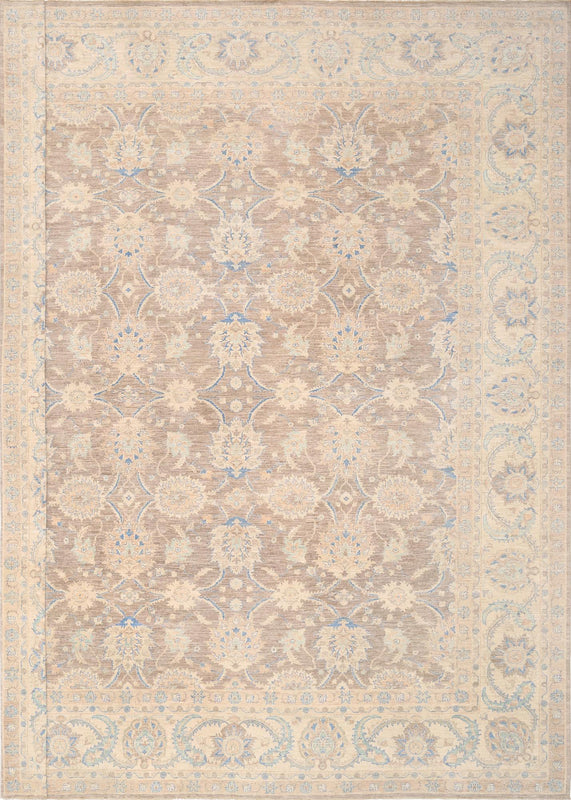 Ferehan Hand Knotted Wool Area Rug English Elm