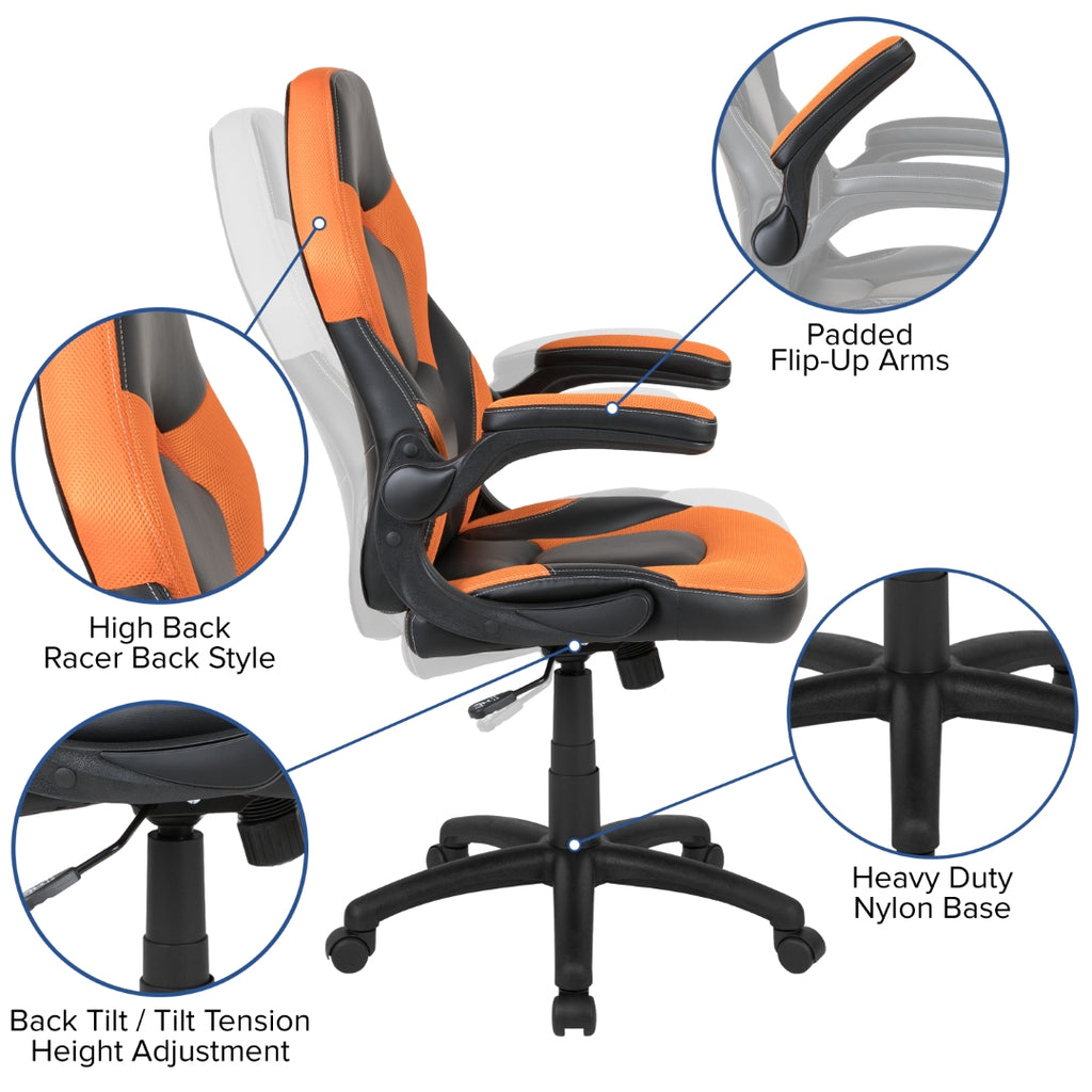 !!Gaming Chair Racing Style! 100/% AUTHENTIC PU Leather /& Swivel Chair