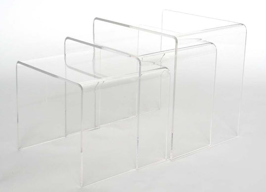 Acrylic Three (3) Accent Tables