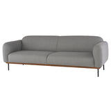 Benson Light Grey Fabric Triple Seat Sofa