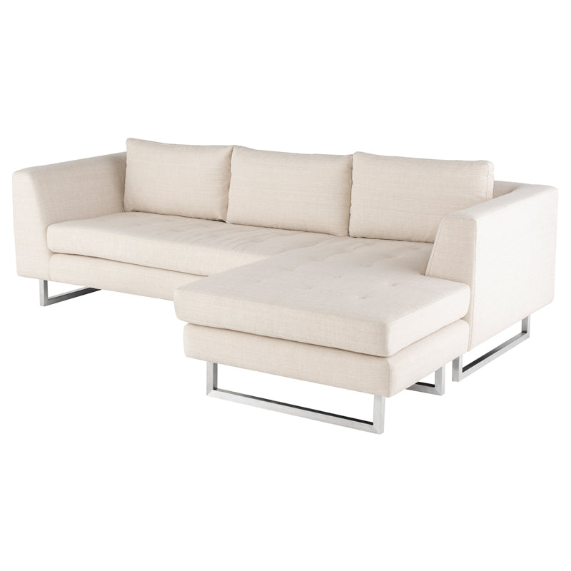 Matthew Sand Fabric Sectional Sofa