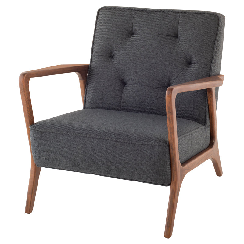 Eloise Storm Grey Fabric Occasional Chair