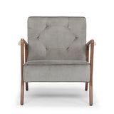 Eloise Smoke Grey Fabric Occasional Chair
