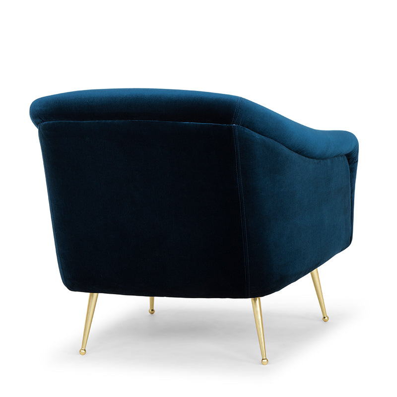 Lucie Midnight Blue Fabric Occasional Chair