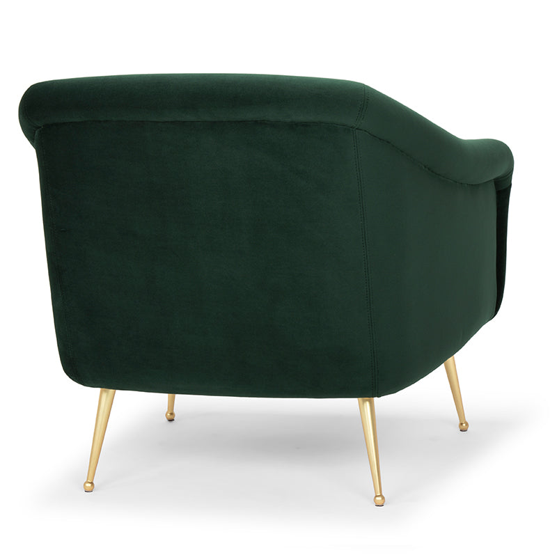 Lucie Emerald Green Fabric Occasional Chair
