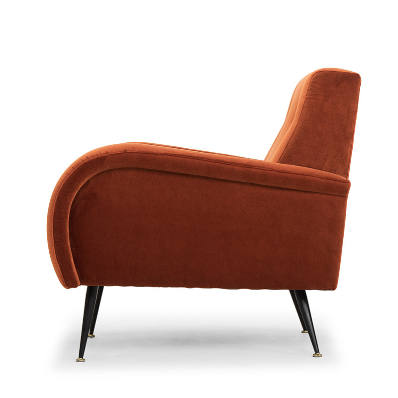 Hugo Rust Fabric Occasional Chair