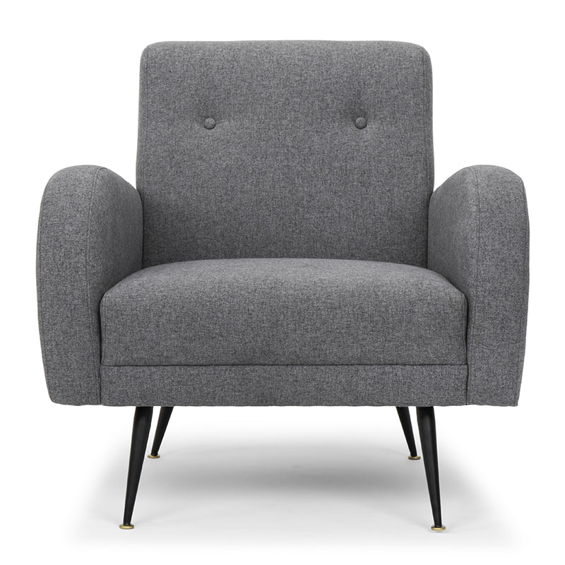 Hugo Shale Grey Fabric Occasional Chair