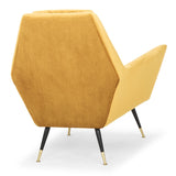 Vanessa Mustard Fabric Occasional Chair