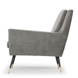 Vanessa Smoke Grey Fabric Occasional Chair