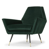 Vanessa Emerald Green Fabric Occasional Chair