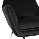 Vanessa Shadow Grey Fabric Occasional Chair