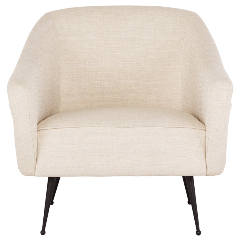 Lucie Sand Fabric Occasional Chair