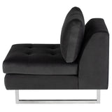 Janis Shadow Grey Fabric Seat Armless Sofa