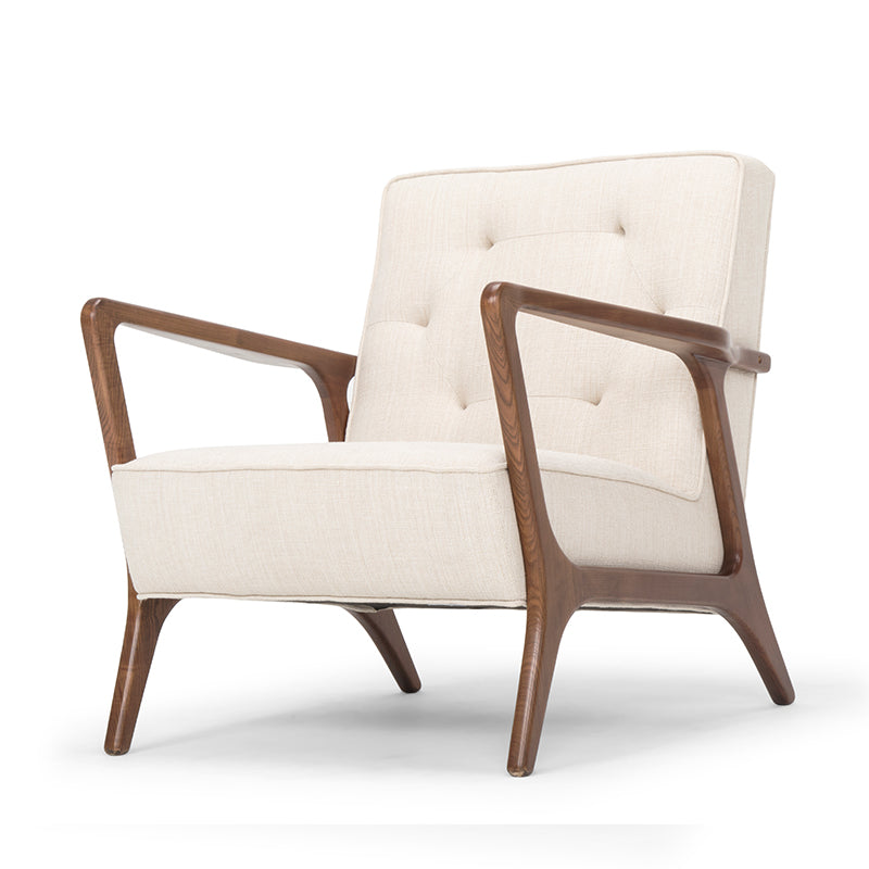 Eloise Sand Fabric Occasional Chair