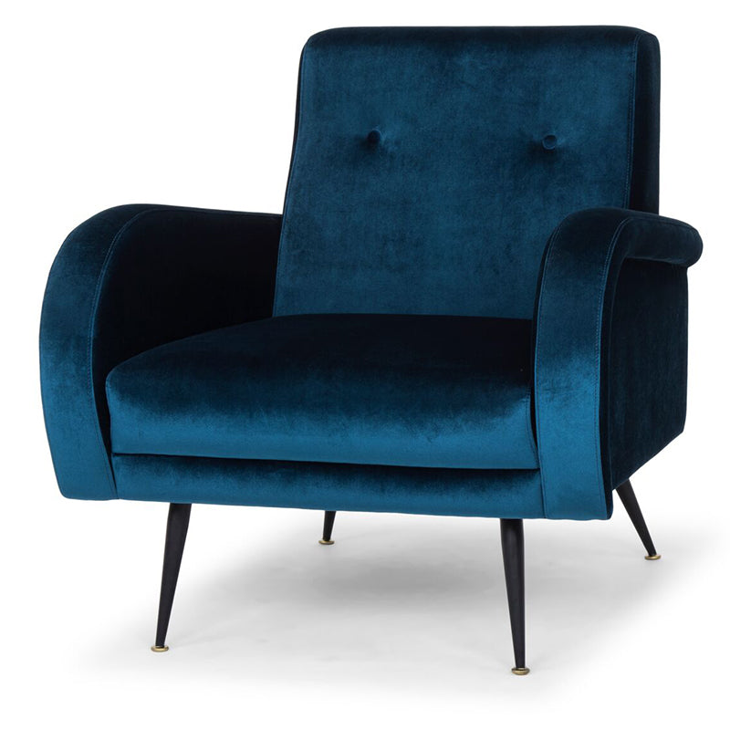 Hugo Midnight Blue Fabric Occasional Chair