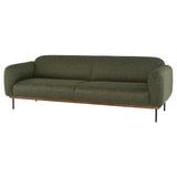 Benson Hunter Green Tweed Fabric Triple Seat Sofa