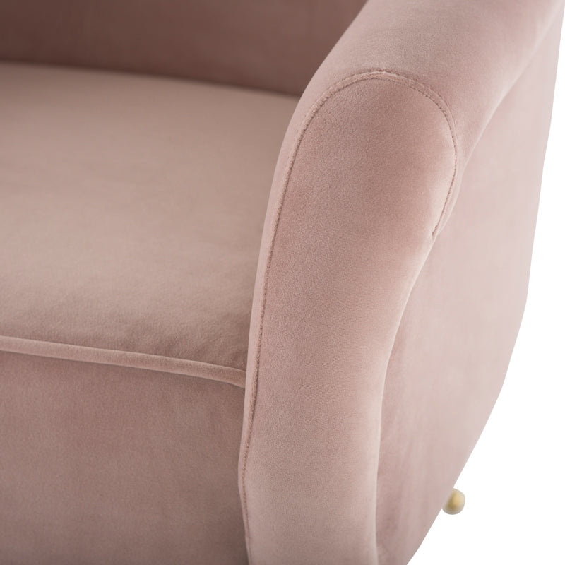 Lucie Blush Fabric Occasional Chair