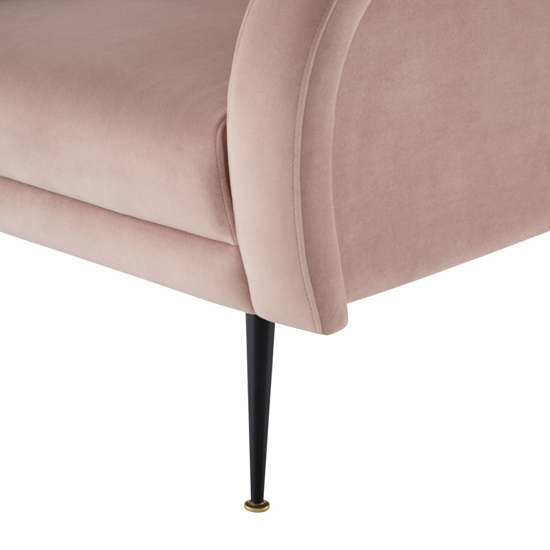 Hugo Blush Fabric Occasional Chair