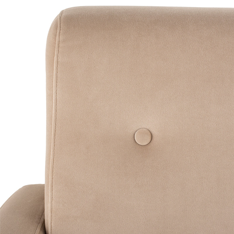 Hugo Nude Fabric Occasional Chair