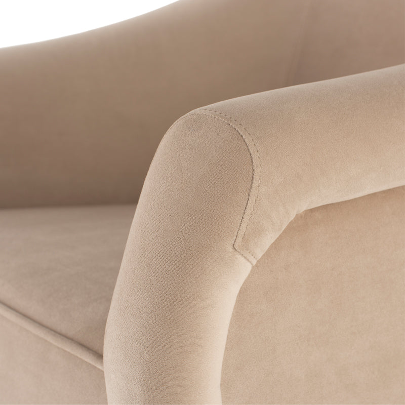 Lucie Nude Fabric Occasional Chair